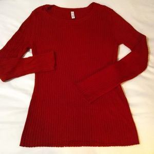 Red Sweater Top by Great Northwest | Indigo